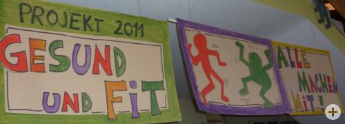 Das Motto der Projektwoche: Gesund und fit - alle machen mit!